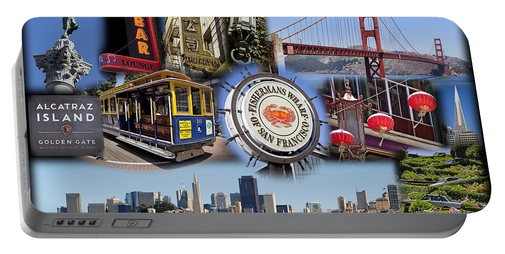 San Francisco Portable Battery Charger featuring the photograph San Francisco Collage by Kelley King