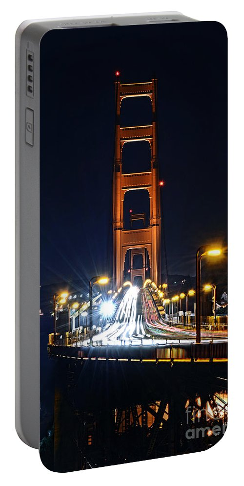 Eua Portable Battery Charger featuring the photograph San Francisco - Golden Gate Bridge From North Vista Point by Carlos Alkmin
