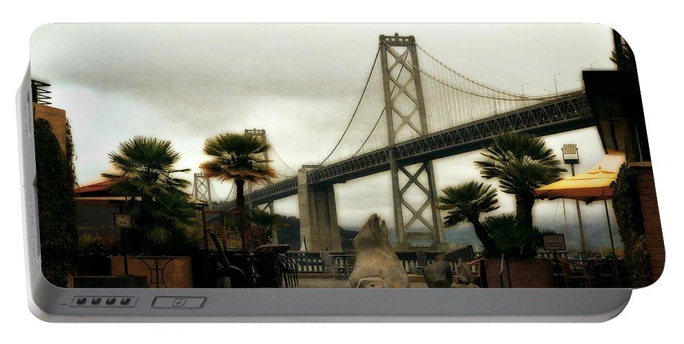 Bay Bridge Portable Battery Charger featuring the photograph San Francisco Oakland Bay Bridge by Michelle Calkins