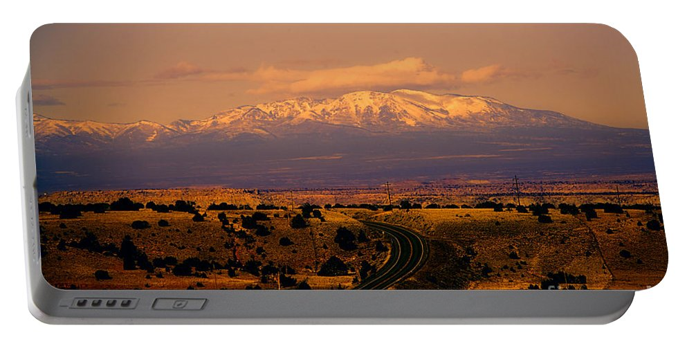 San Francisco Peaks Portable Battery Charger featuring the photograph San Francisco Peaks by Douglas Barnard
