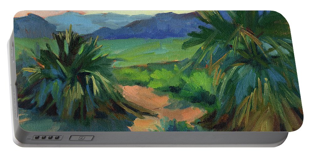 San Jacinto Visitors Center Portable Battery Charger featuring the painting San Jacinto Visitors Center by Diane McClary