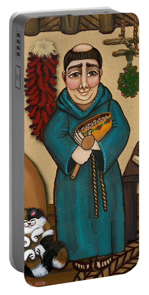 San Pascual Portable Battery Charger featuring the painting San Pascual by Victoria De Almeida
