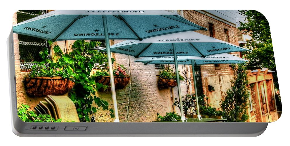 Pellegrino Portable Battery Charger featuring the photograph San Pellegrino by Debbi Granruth