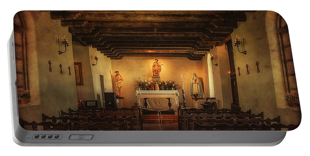 Church Portable Battery Charger featuring the photograph Sanctuary by Priscilla Burgers