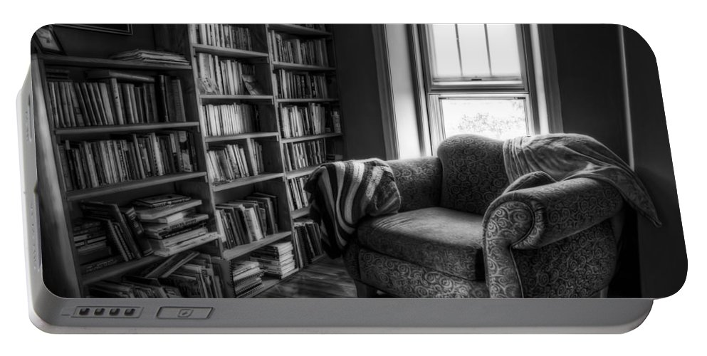 Library Portable Battery Charger featuring the photograph Sanctuary by Scott Norris