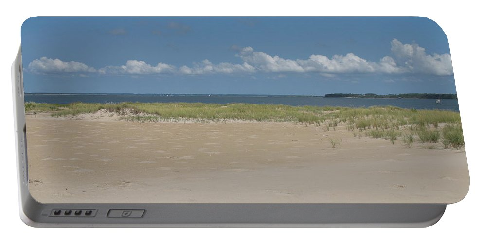Sea Portable Battery Charger featuring the photograph Sand And Ocean Of Assateague Island National Seashore by Christiane Schulze Art And Photography