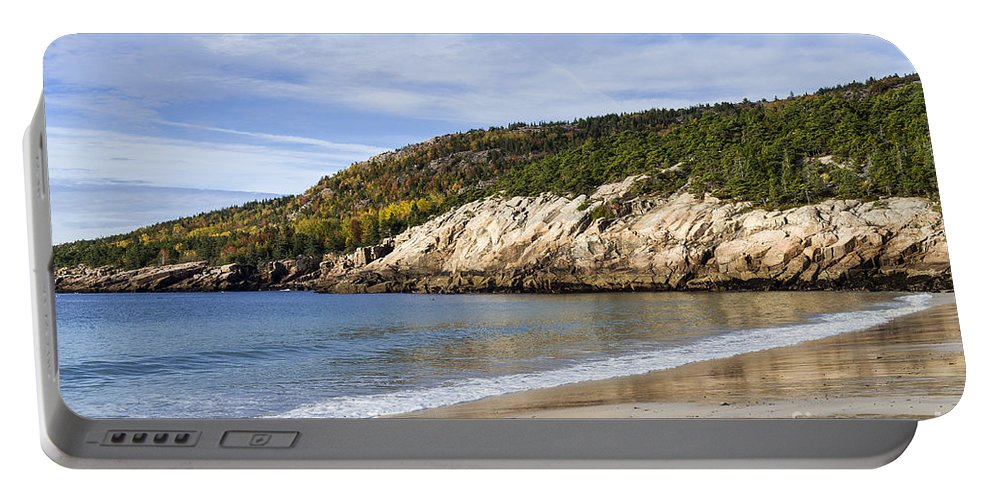 Acadia Portable Battery Charger featuring the photograph Sand Beach Acadia by John Greim