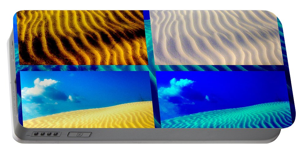 Sand Portable Battery Charger featuring the photograph Sand Dunes Collage by Susanne Van Hulst