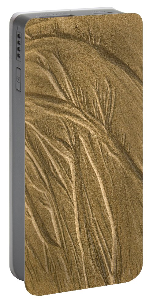 Beach Portable Battery Charger featuring the photograph Sand Painting2 by Jean Noren