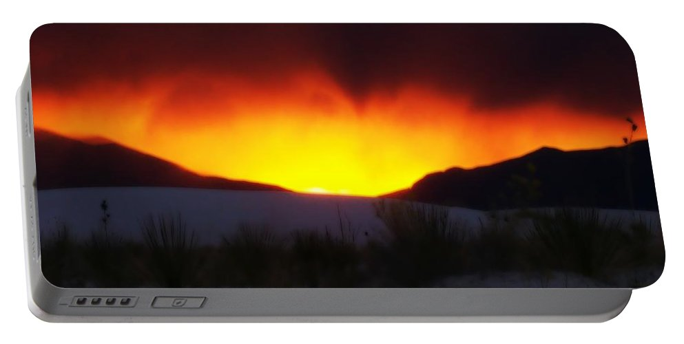 Sun Portable Battery Charger featuring the photograph Sands Sunset by Jessica Shelton