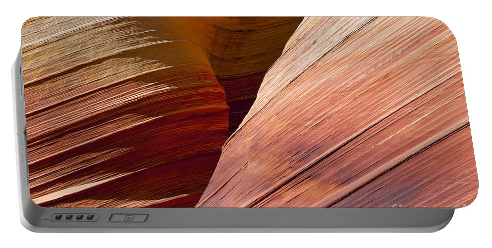The Wave Coyote Buttes Arizona Grand Staircase Esclante National Monument Monuments Paria Canyon Vermilion Cliffs Wilderness Sandstone Landscape Landscapes Landmark Landmarks Ridge Ridges  Portable Battery Charger featuring the photograph Sandstone Wave Formations by Bob Phillips