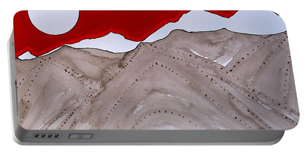 Rockies Portable Battery Charger featuring the painting Sangre De Cristo Peaks Original Painting by Sol Luckman