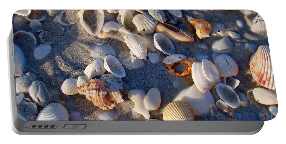 Shells Portable Battery Charger featuring the photograph Sanibel Island Shells 1 by Nancy L Marshall