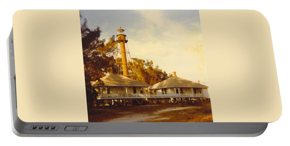 Sanibel Is.florida. Portable Battery Charger featuring the photograph Sanibel Lighthouse Landscape by Robert Floyd