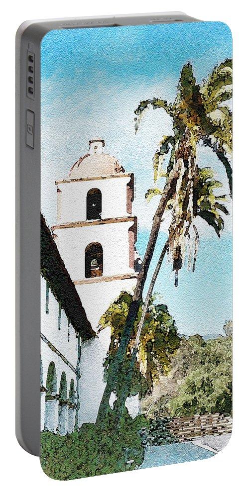 California Portable Battery Charger featuring the photograph Santa Barbara Palms by Flamingo Graphix John Ellis