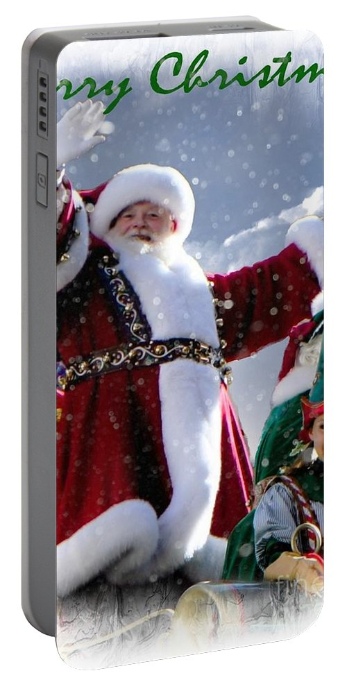 Christmas Portable Battery Charger featuring the photograph Santa Claus by Lilliana Mendez