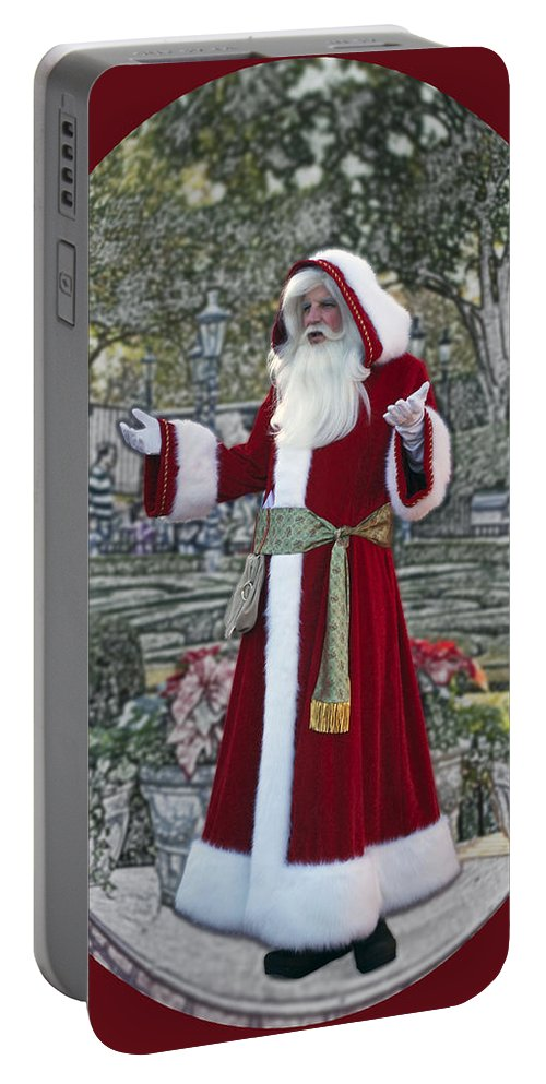 Santa Portable Battery Charger featuring the photograph Santa Claus Walt Disney World Oval by Thomas Woolworth