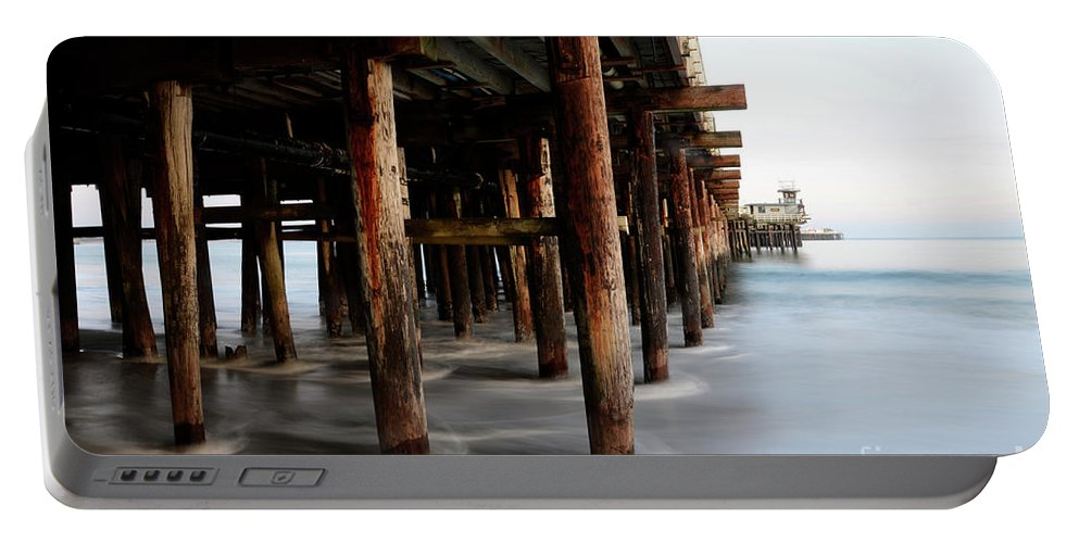 Pier Portable Battery Charger featuring the photograph Santa Cruz Pier California by Bob Christopher