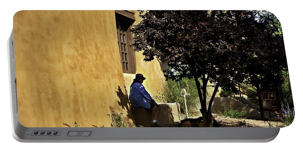 Santa Fe Portable Battery Charger featuring the photograph Santa Fe Afternoon - New Mexico by Madeline Ellis