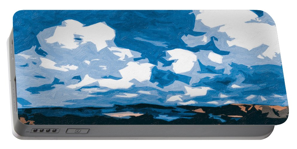 Sky Portable Battery Charger featuring the photograph Santa Fe Skies by Terry Fiala