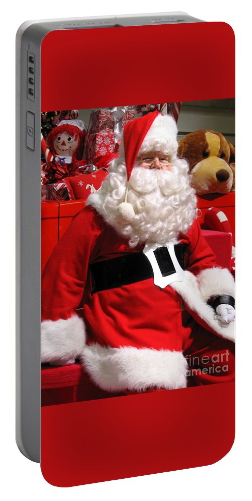 Santa Portable Battery Charger featuring the photograph Santa Is Ready by Ann Horn