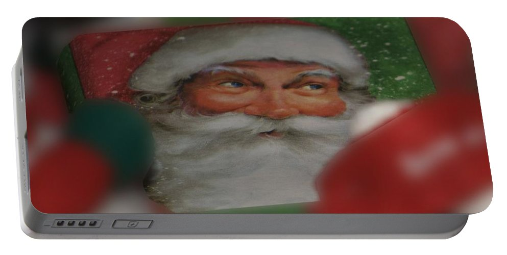 Holiday Portable Battery Charger featuring the photograph Santa Is Watching by Thomas Woolworth