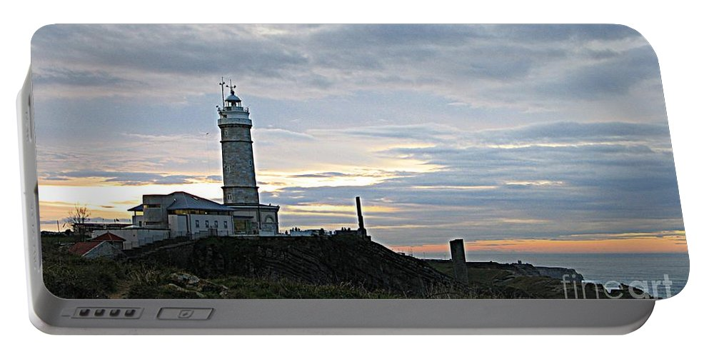 Art Portable Battery Charger featuring the photograph Santander Lighthouse - Spain by Shelia Kempf