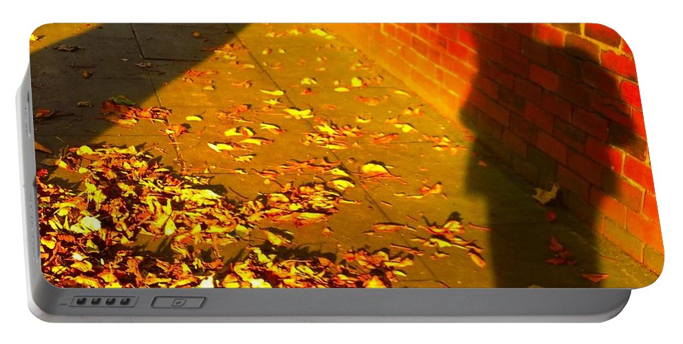 Autumn Portable Battery Charger featuring the photograph Santa's Early? by Joan-Violet Stretch