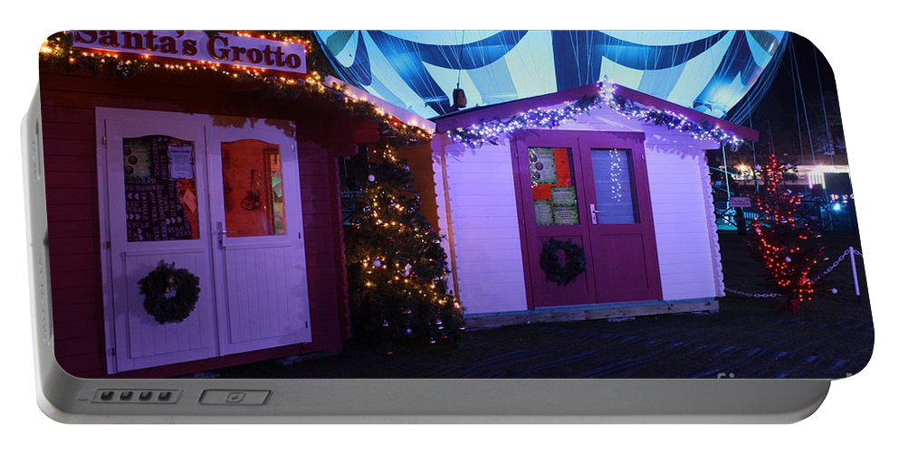 Santa Portable Battery Charger featuring the photograph Santa's Grotto In The Winter Gardens Bournemouth by Terri Waters