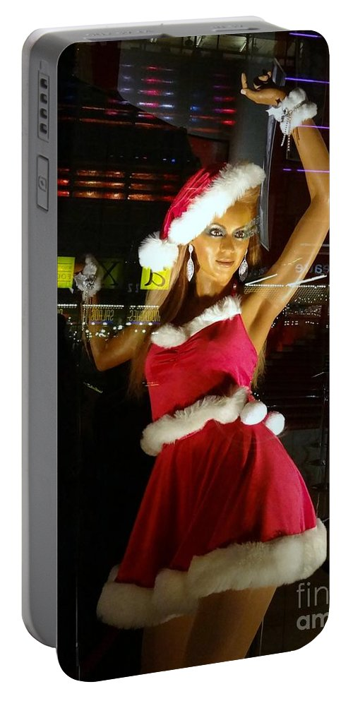 Santa Portable Battery Charger featuring the photograph Santa's Helper by Ed Weidman