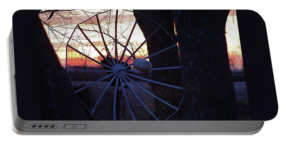 Trees Portable Battery Charger featuring the photograph Satellite Sunset by Wayne Williams
