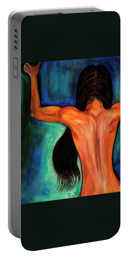 Beautiful Portable Battery Charger featuring the photograph Satin Curves by Artist RiA