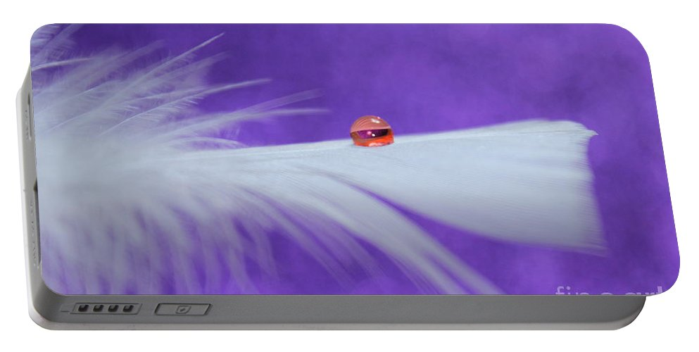 Feather Portable Battery Charger featuring the photograph Saturday by Krissy Katsimbras