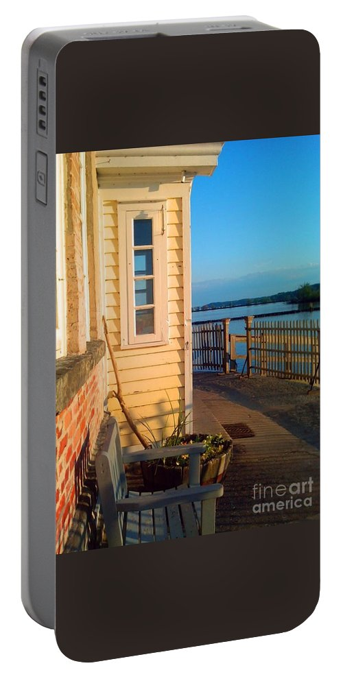 Saugerties Portable Battery Charger featuring the photograph Saugerties Lighthouse by Beth Ferris Sale