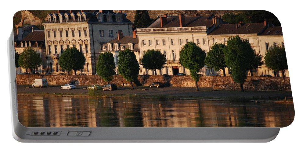 Saumur Portable Battery Charger featuring the photograph Saumur Reflected by Eric Tressler