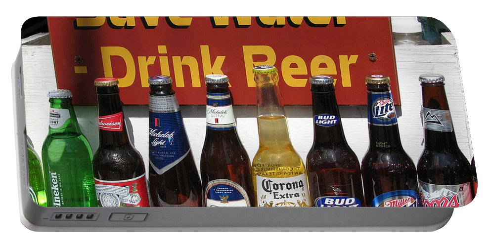 Fun Portable Battery Charger featuring the photograph Save Water Drink Beer by Stacey May
