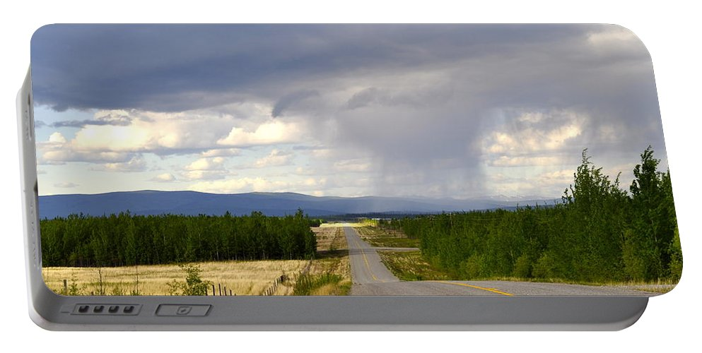 Clouds Portable Battery Charger featuring the photograph Sawmill Creek Road 2 by Cathy Mahnke