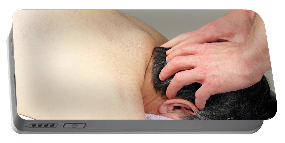Massage Portable Battery Charger featuring the photograph Scalp Massage by Lee Serenethos
