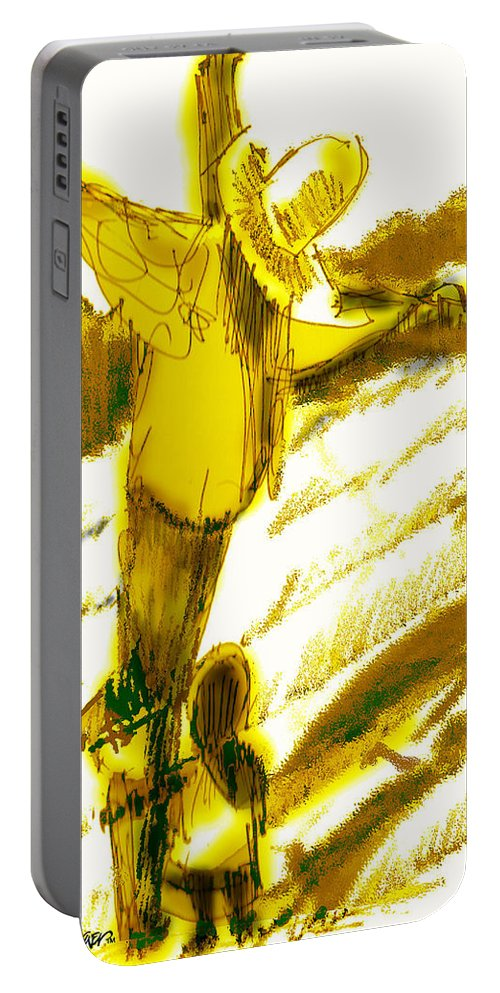 Scarecrow Babysitter Portable Battery Charger featuring the digital art Scarecrow Babysitter by Seth Weaver