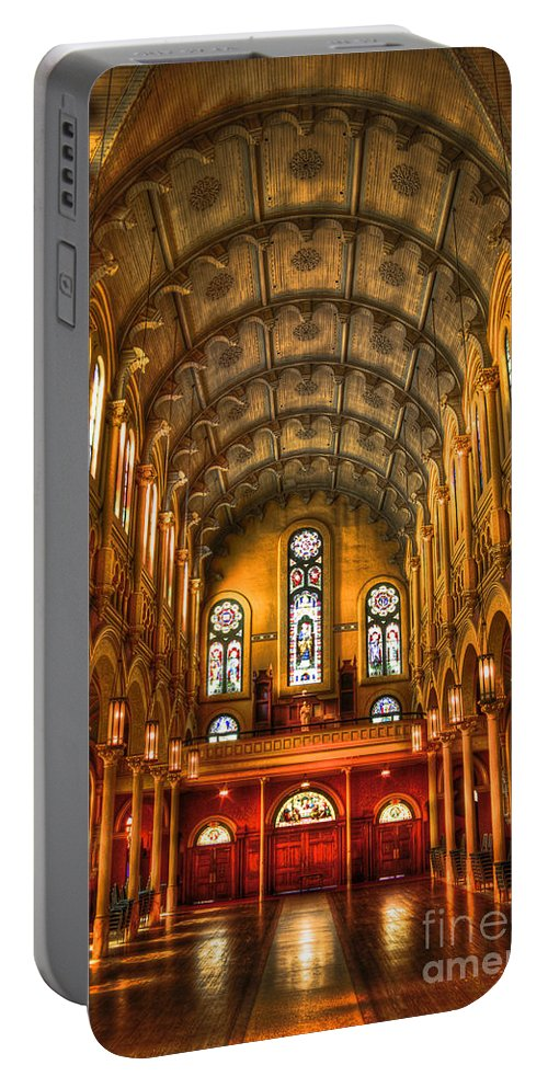 Reid Callaway Sacred Heart Cultural Center Portable Battery Charger featuring the photograph Sacred Heart Cultural Center 2 by Reid Callaway