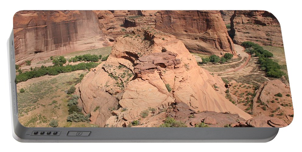 Canyon Portable Battery Charger featuring the photograph Scenic Canyon De Chelly by Christiane Schulze Art And Photography