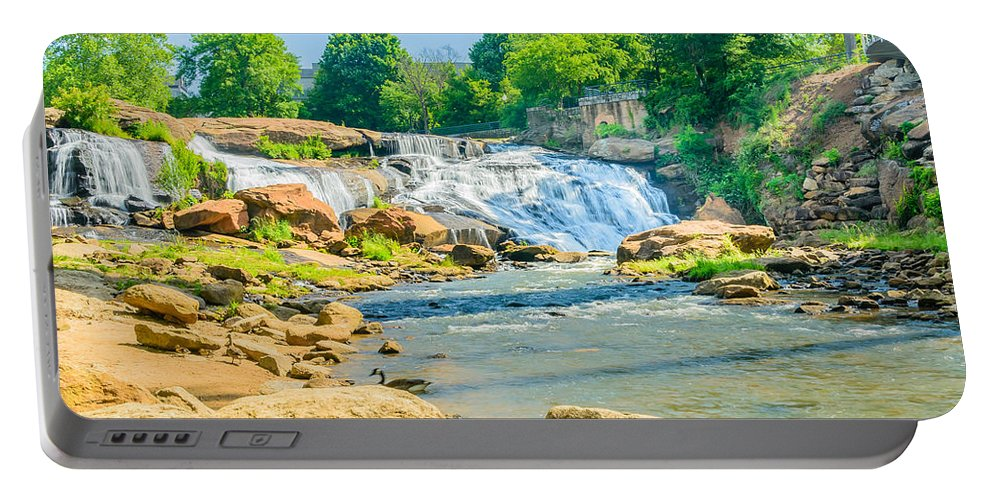 Trees Portable Battery Charger featuring the photograph Scenic Falls by Elvis Vaughn