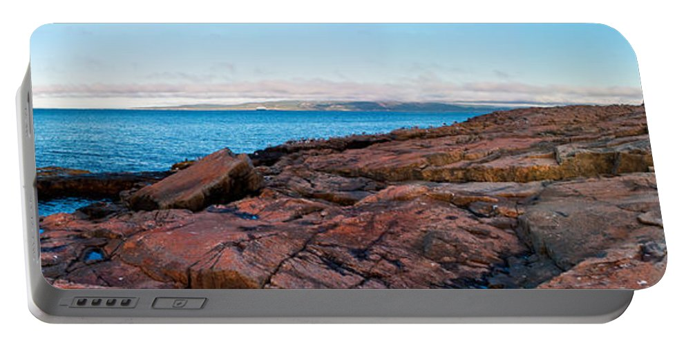 Acadia National Park Portable Battery Charger featuring the photograph Schoodic Point 8414 by Brent L Ander
