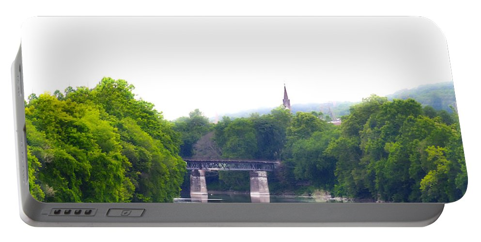 Schuylkill Portable Battery Charger featuring the photograph Schuylkill River At Manayunk Philadelphia by Bill Cannon