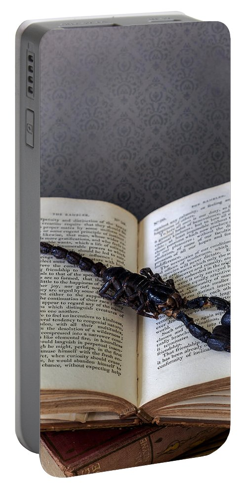 Book Portable Battery Charger featuring the photograph Scorpion by Joana Kruse