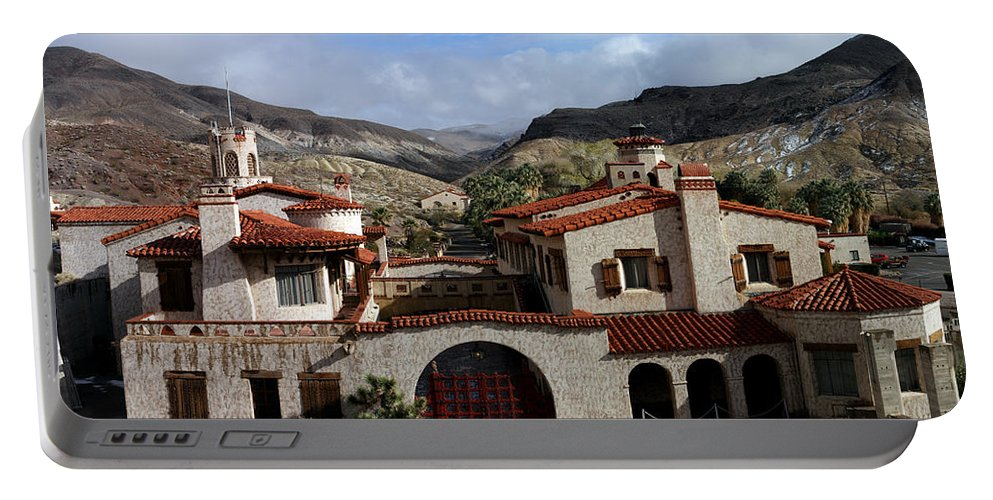 Death Valley Landscapes Portable Battery Charger featuring the photograph Scotty's Castle by David Salter