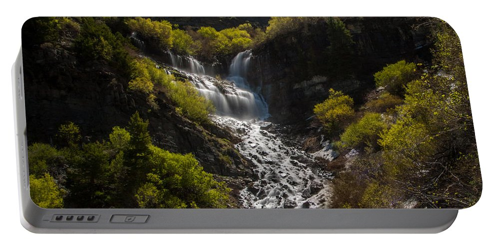 Gigimarie Portable Battery Charger featuring the photograph Scout Falls by Gina Herbert