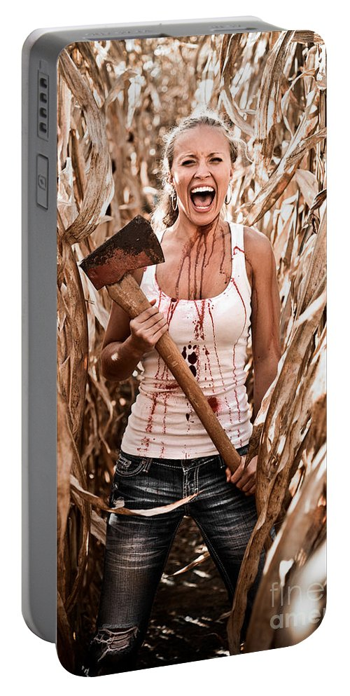Cut Portable Battery Charger featuring the photograph Scream by Jt PhotoDesign