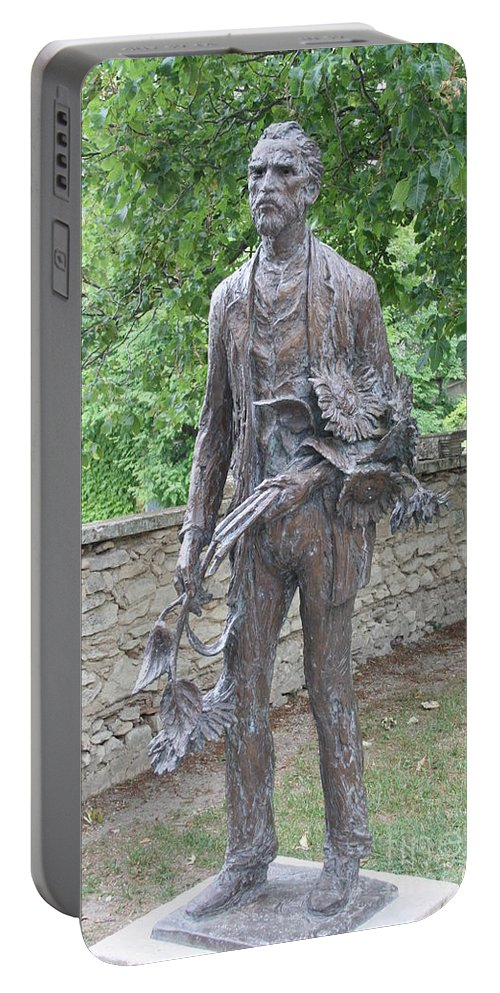 Sculpture Portable Battery Charger featuring the photograph Sculpture Vincent Van Gogh - St Remy by Christiane Schulze Art And Photography
