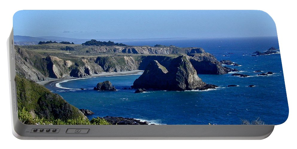 Sea Portable Battery Charger featuring the photograph Sea Coast Of Northern California by Douglas Barnett